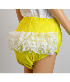Lemon Frillies with White Lace