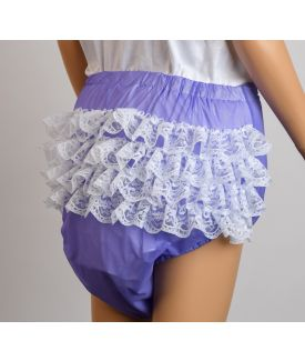 Lilac Frillies with White Lace